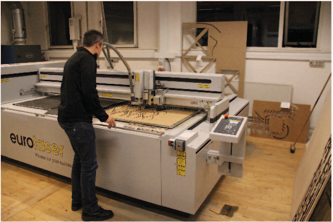 laser cutter interaction