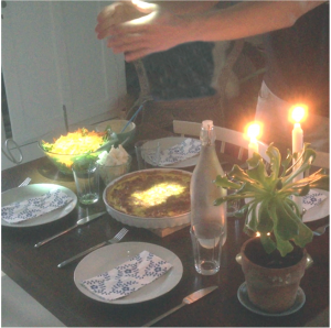 Tangible Lights: Dinner table interactions with cast light